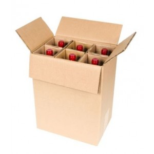 Speciální obalový materiál na víno a poštové na 6 ks lahví