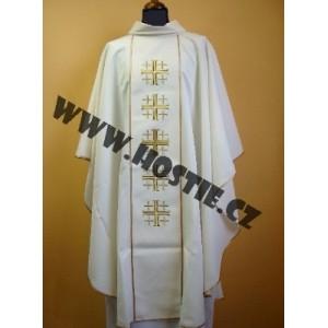 Jáhenská dalmatika se štolou - jeruzalémský kříž