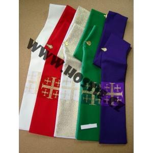 Jáhenská štola - různé barvy, jeruzalémský kříž